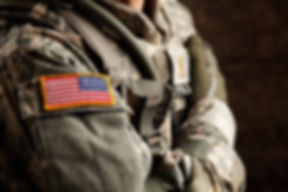 US Army Soldier in Universal Camouflage Uniform
