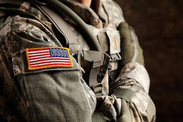 ユニバーサル迷彩制服での米軍兵士
