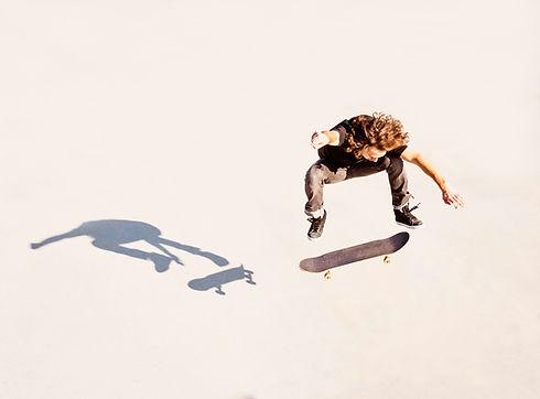 Skateboarder Jumping