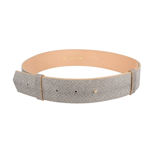 Stud Belt, grey salmon
