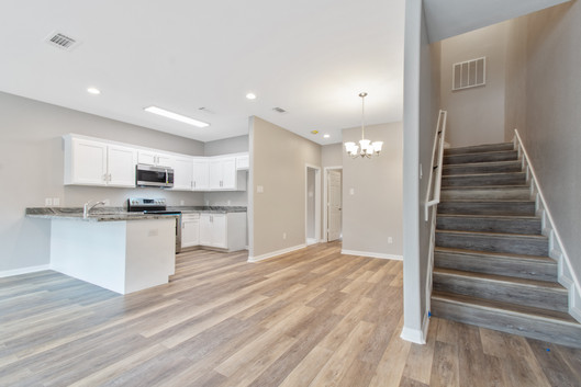 Kitchen, Dining, Stairs