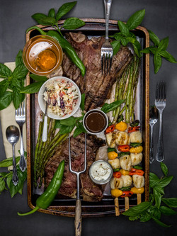 Steak Flat Lay
