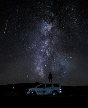 Arizona Car Milky Way