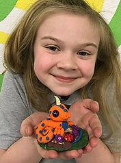 kids art smart polymer clay sculpey baby dragon sculpture