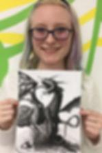 sketching art smart art classes kids charcoal dragon teens painting clay sculpture