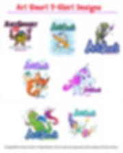 art smart t-shirts fun creative artsy funny whimsical cute sweet art fun penguin dino fox unicorn dragon artist pixi fairy