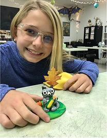 raccoon polymer clay kids art artsmart sculpture