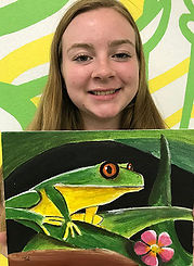 painting frog kids art goartsmart canvas acrylics teen art