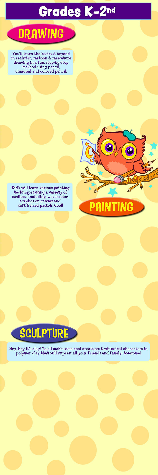 boys girls drawing painting sculpture fish pencil penguin acrylic owls stars happy funny frogs sharks happy funny