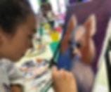 art smart painting classes kids cute puppy canvas acrylic paint art smart
