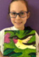 art smart classes kid art canvas painting hummingbird pretty drawing clay sculpture