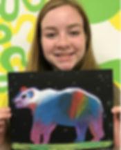 artsmart kids art classes bear polar pastels painting fun