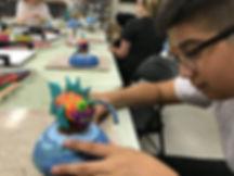 kids art clay polymer sculpture art smart classes