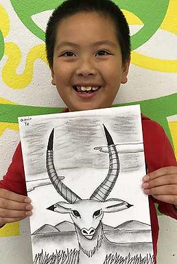 art smart drawing kid art charcoal drawing kudu deer painting clay sculpture