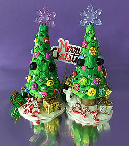 polymer clay christmas trees kids art sculpture clay