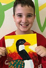 painting canvas acrylic kids art drawing classes