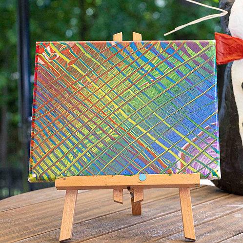 Rainbow Criss Cross 8x10