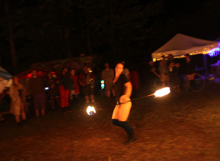 Heckling a Fire Dancer