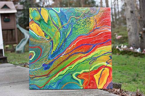 Veins & Arteries 4x4' Gallery Canvas