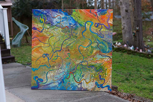 Paths in Space 4x4' Gallery Canvas