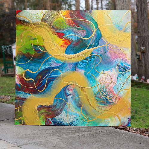 Golden Lining 4x4' Gallery Canvas