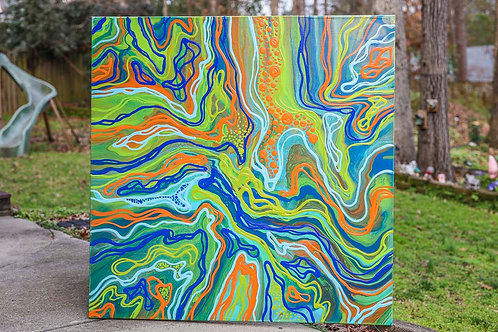 Historic Rivers 4x4' Gallery Canvas