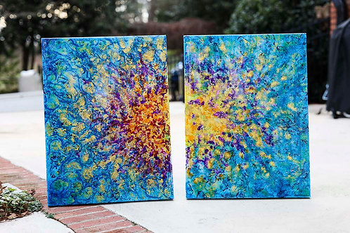 """Sunrise & Sunset 16x20"""" Gallery Canvases"""