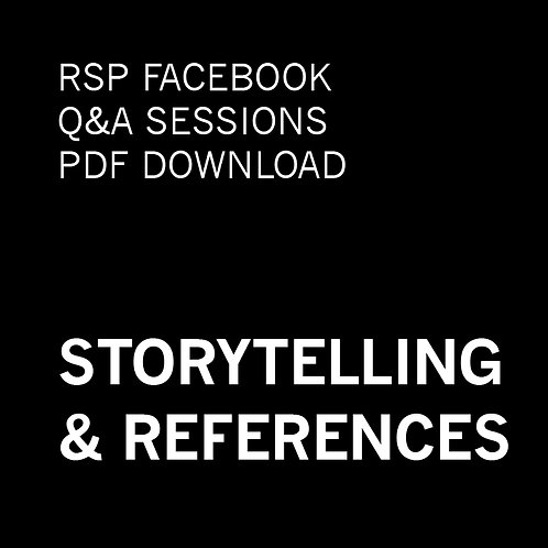 RSP Q&A Sessions - Storytelling & References