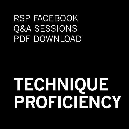 RSP Q&A Sessions - Technique Proficiency