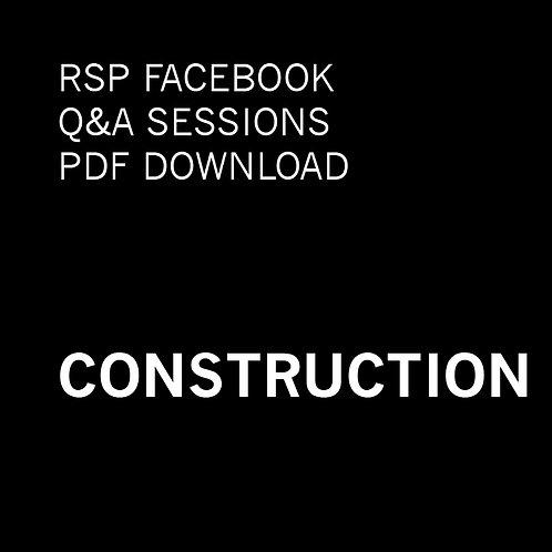 RSP Q&A Sessions - Construction