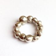Perlenring, Silber 925, Melanie Malmqvis