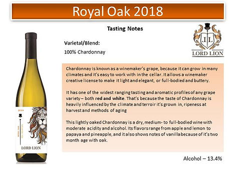 Tasting Notes - Royal Oak 2018 page 1.jp