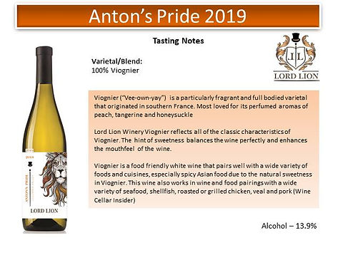 Tasting Notes - Antons Pride 2019 page 1