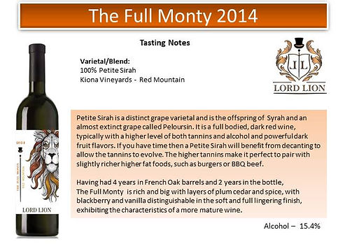 Tasting Notes - The Full Monty 2014 page