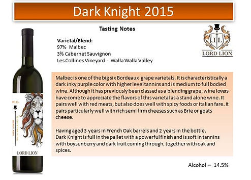 Tasting Notes - Dark Knight 2015 page 1.