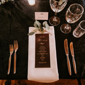 Table setting for destination wedding in Iceland