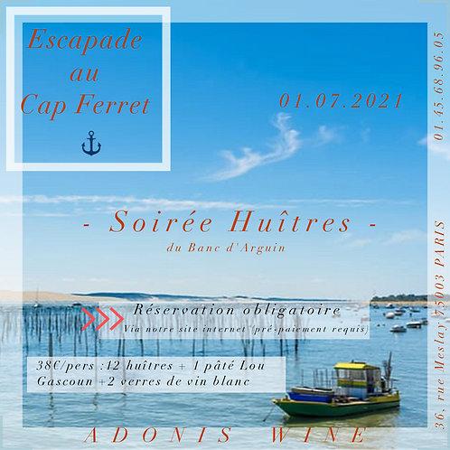 SOIRÉE HUITRES ADONIS WINE 01.07.2021 - 19h / 1 PERSONNE