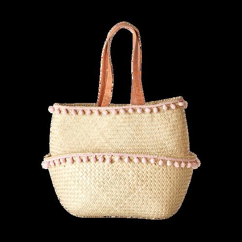 rice - Einkaufstasche aus Bast, Medium