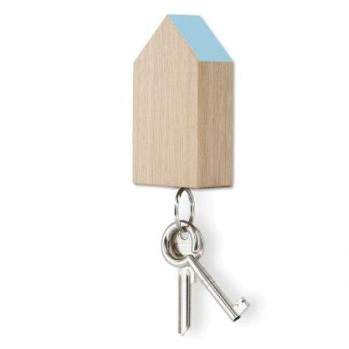 SidebySide - Schlüsselhaus magnetic - Eiche mit blauem Dach