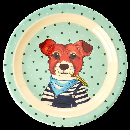 rice - Melamin Kinder-Teller - Animals Print