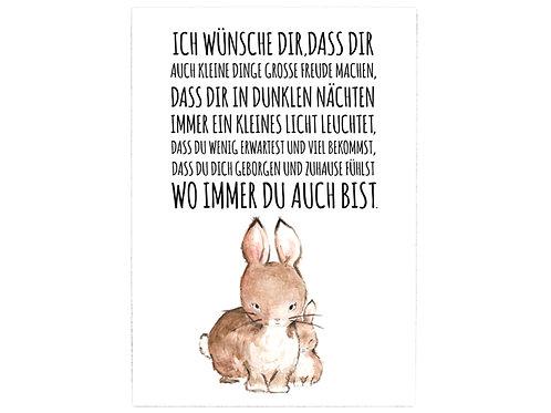 """Interluxe - großes Holzschild - """"ICH WÜNSCHE DIR..."""""""