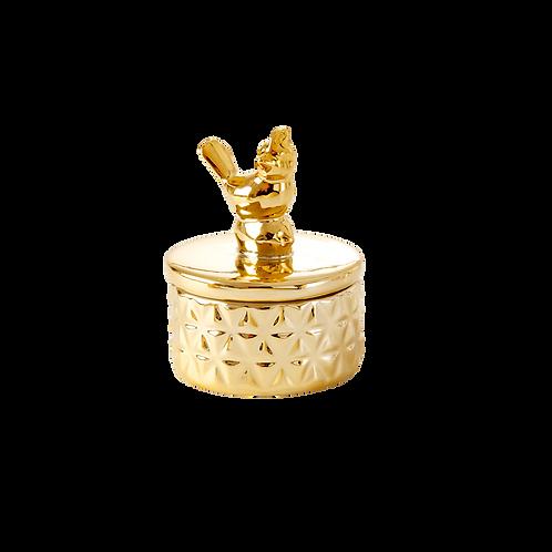 rice - Schmuckdose - gold - Vögelchen