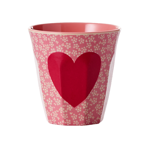 rice -  Medium Melamin Becher - Heart Print