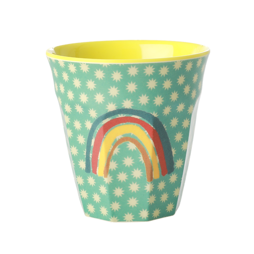 rice - Medium Melamin Cup - Rainbow & Stars