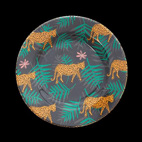 rice - Melamin Teller - Wild Leopard Print