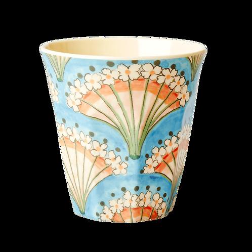 rice - Medium Melamin Becher - Flower Fan Print