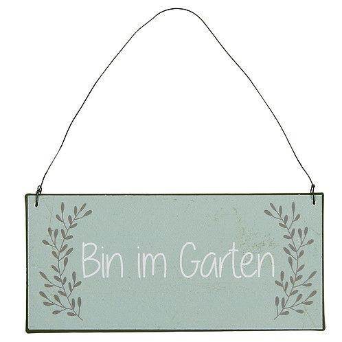 Ib Laursen - Metallschild - Bin im Garten