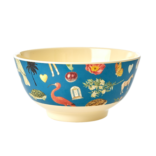 rice Medium runde Melamin Bowl - Art Print