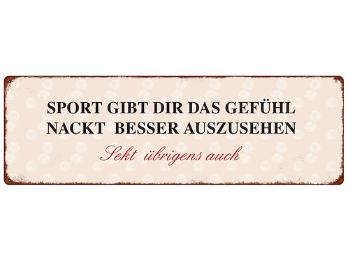 "Interluxe - METALLSCHILD ""SPORT GIBT DIR DAS GEFÜHL"""