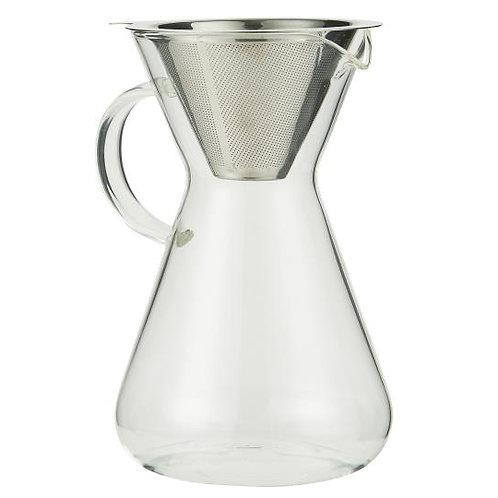 Ib Laursen - Kaffeekanne mit Filter - Glas - Metall